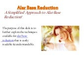 Alar base reduction