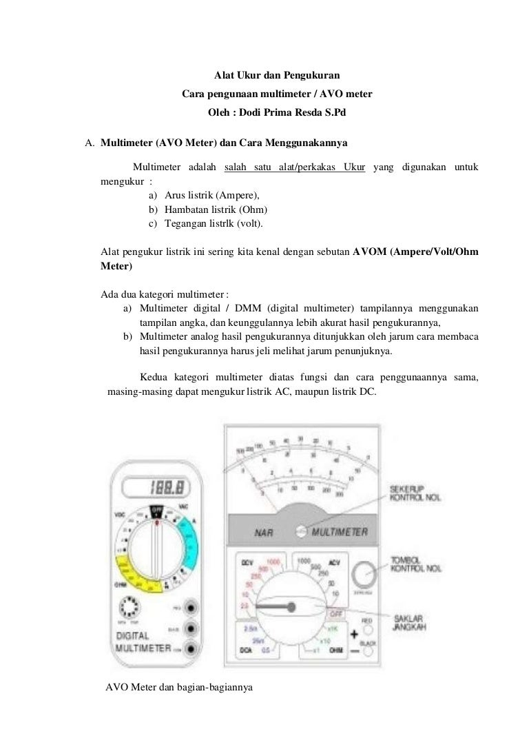 Pengukuran hambatan dengan ohmmeter. Mengukur arus, tegangan dan hambatan 53