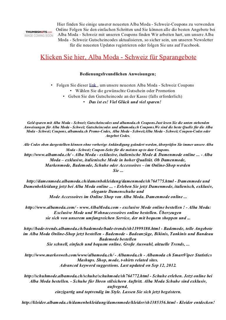 Albamoda Ch Gutscheincode Rabatt