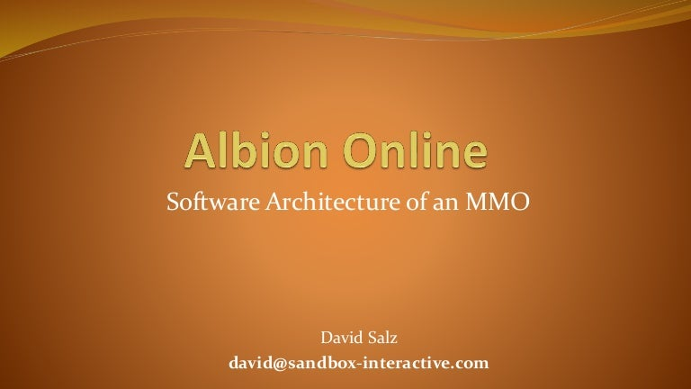 Albion Online - Software Architecture of an MMO (talk at Quo