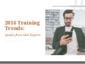 2016 Training Trends: Experts Weigh In