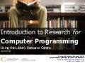 Computer Programmer - April 2013 (Alcock)