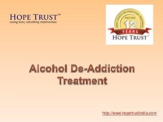 Alcohol de addiction treatment