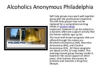 Alcoholics Anonymous Philadelphia (855) YES-REHAB