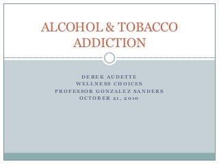 alcohol addiction work
