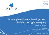 Ale 2013, from software devt to building an agile company