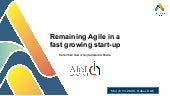 Remaining Agile in a fast growing start-up by Alexander Bosma and Muhammad Noor ul haque