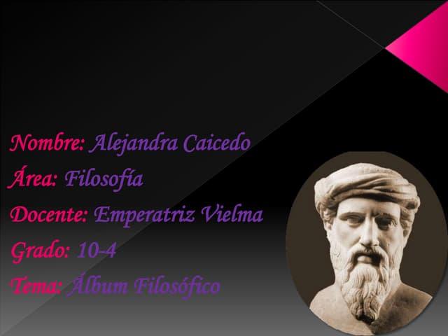 Alejandra Caicedo 10-4 Album filosofico