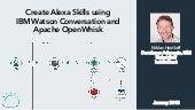 Create Alexa Skills using IBM Watson Conversation and Apache OpenWhisk