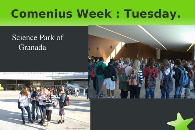 (Alexandra & michaela)comenius week   tuesday (at the science park)