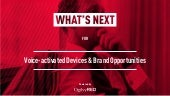 What's Next for Voice-activated devices & brand opportunities