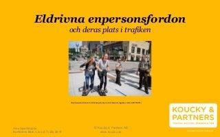 Alex Spielhaupter Koucky & Partners, Eldrivna enpersonsfordon - En kunskapsöversikt över deras plats i trafiken, Barn Liv och Trafik 2019 / NTF Väst