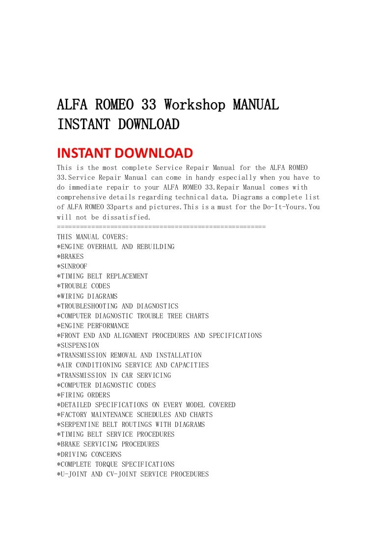 Alfa Romeo 33 Workshop Manual Instant Download Transmission Diagrams Alfaromeo33workshopmanualinstantdownload 130502071140 Phpapp01 Thumbnail 4cb1367478736