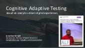 Assurance Leadership Forum (ALF) - Cognitive Adaptive Testing