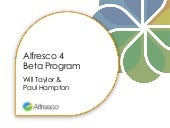 Alfresco 4 Beta Program