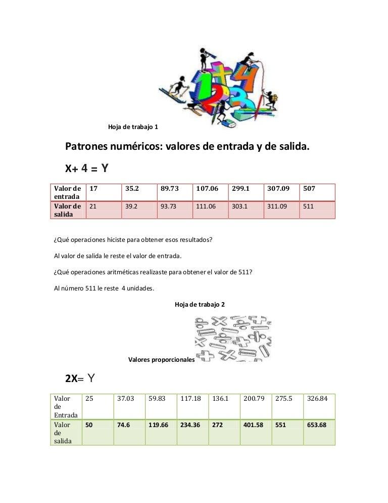 Fantástico Los Patrones De Las Hojas De Trabajo Ideas - hojas de ...