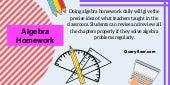 Algebra homework tips