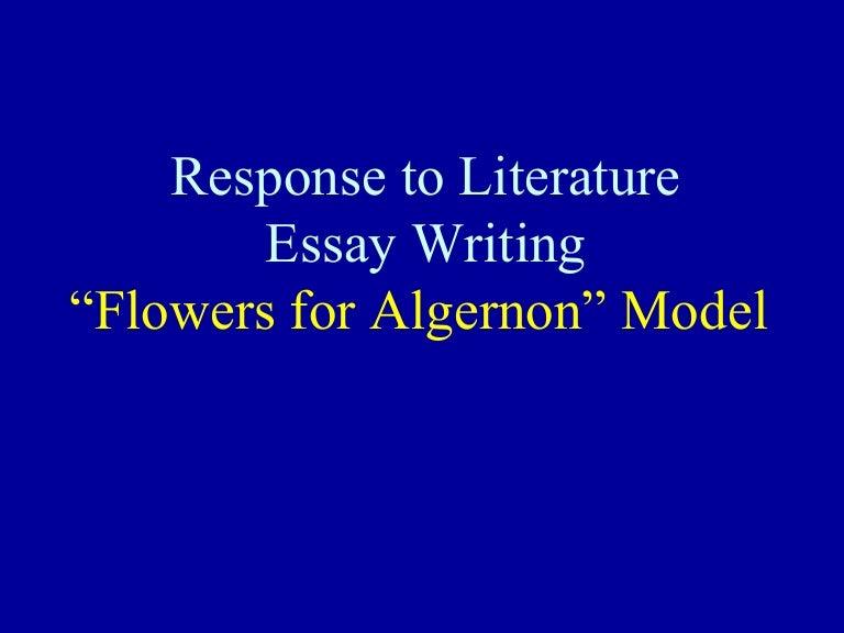 algernon paper structure