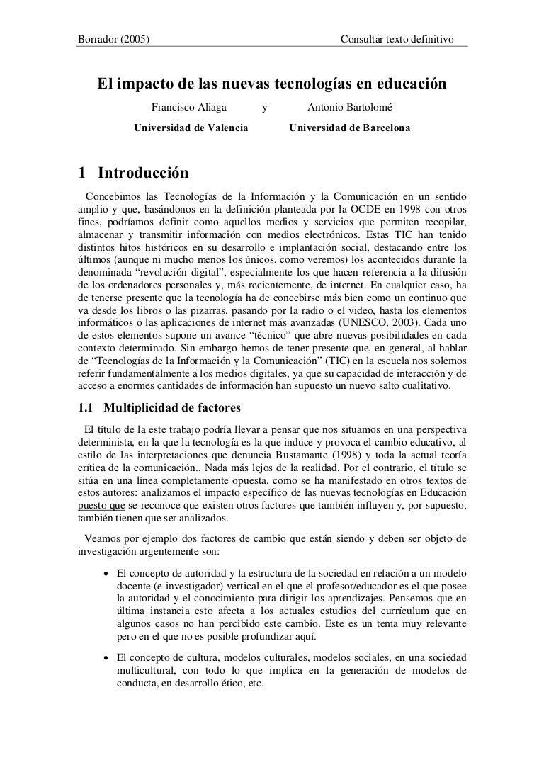 Aliaga&bartolome 2005-borradorimpacto