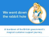 GOV.UK - a teardown of the British Government's self-service journey