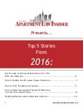 Apartment Law Insider Compendium 2016