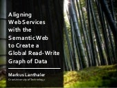 Aligning Web Services with the Semantic Web to Create a Global Read-Write Graph of Data