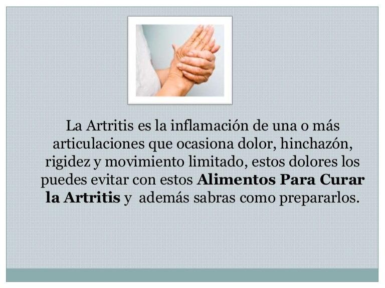 alimentacion para curar la artritis