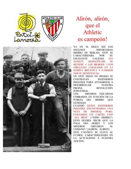 Patxi Larrocha con el Athletic