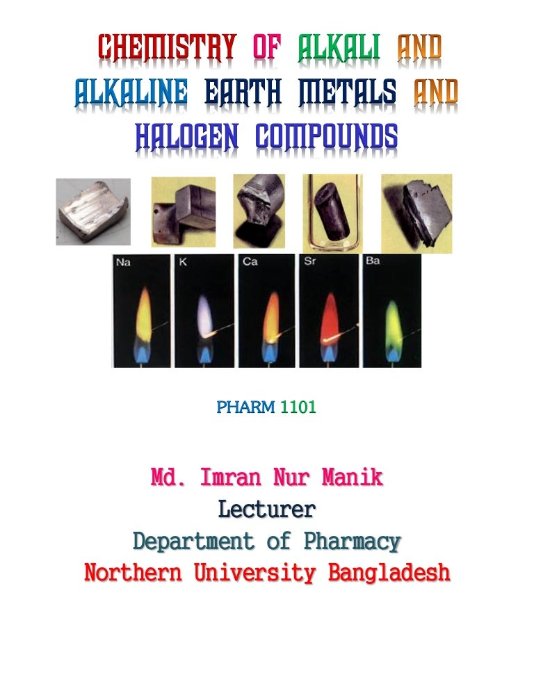 Chemistry of alkali and alkaline earth metals and halogen compounds m urtaz Images