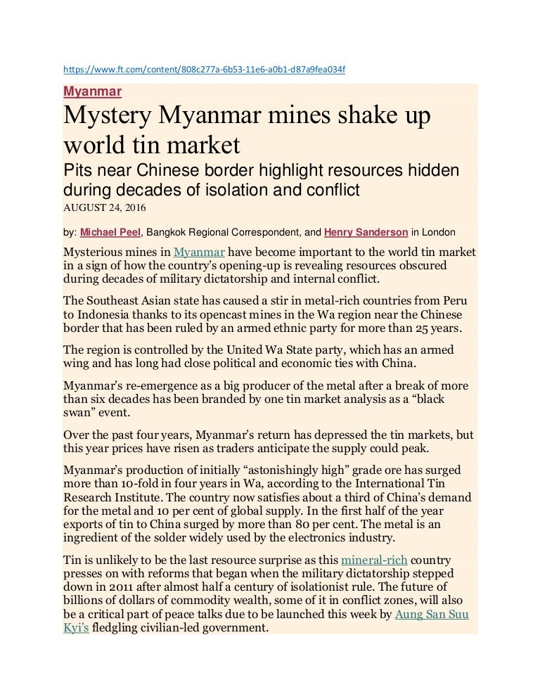 All about wa state tin mine in myanmar data collection by myo aung ex publicscrutiny Image collections