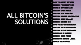 All bitcoin's solutions