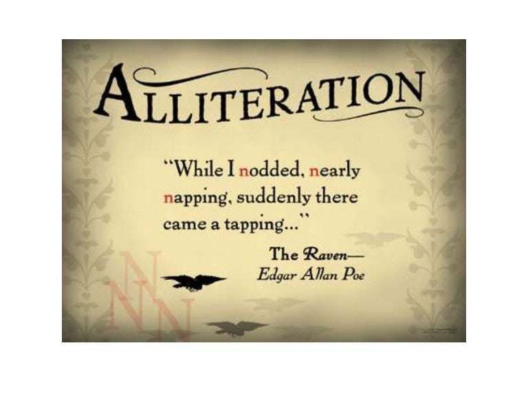 How to write a alliteration poem
