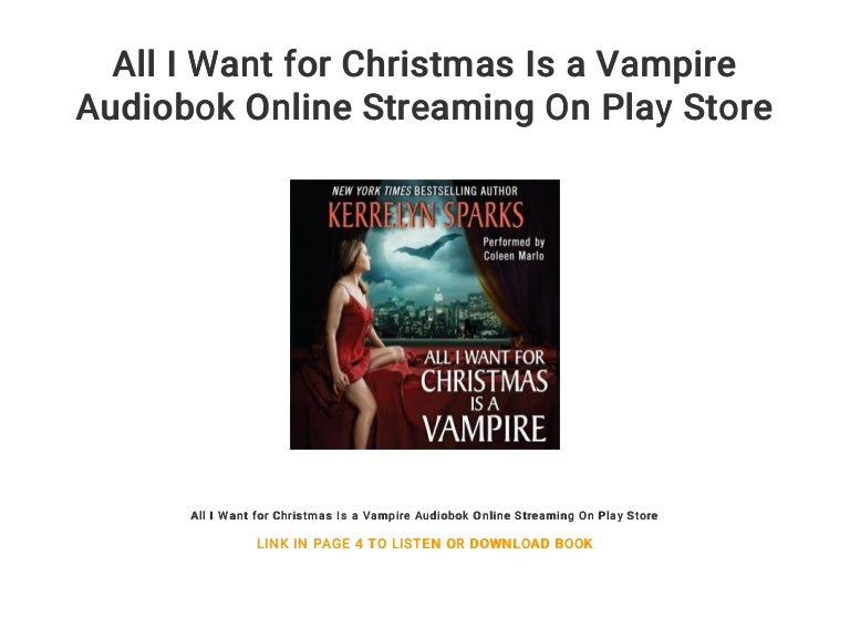 Merry Christmas 2020 Stream Thumbnails All I Want for Christmas Is a Vampire Audiobok Online Streaming On Pl…