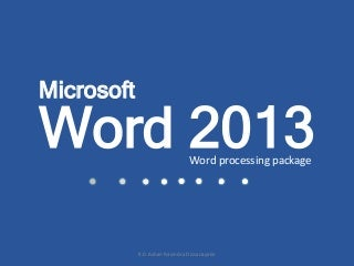 All ms word 2013