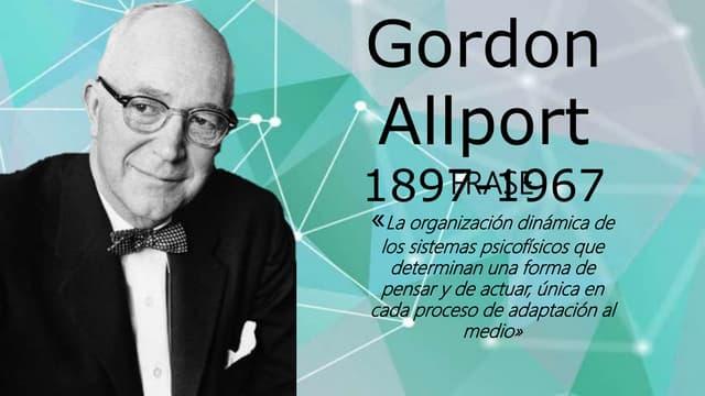 Allport Gordon teorias de la personalidad