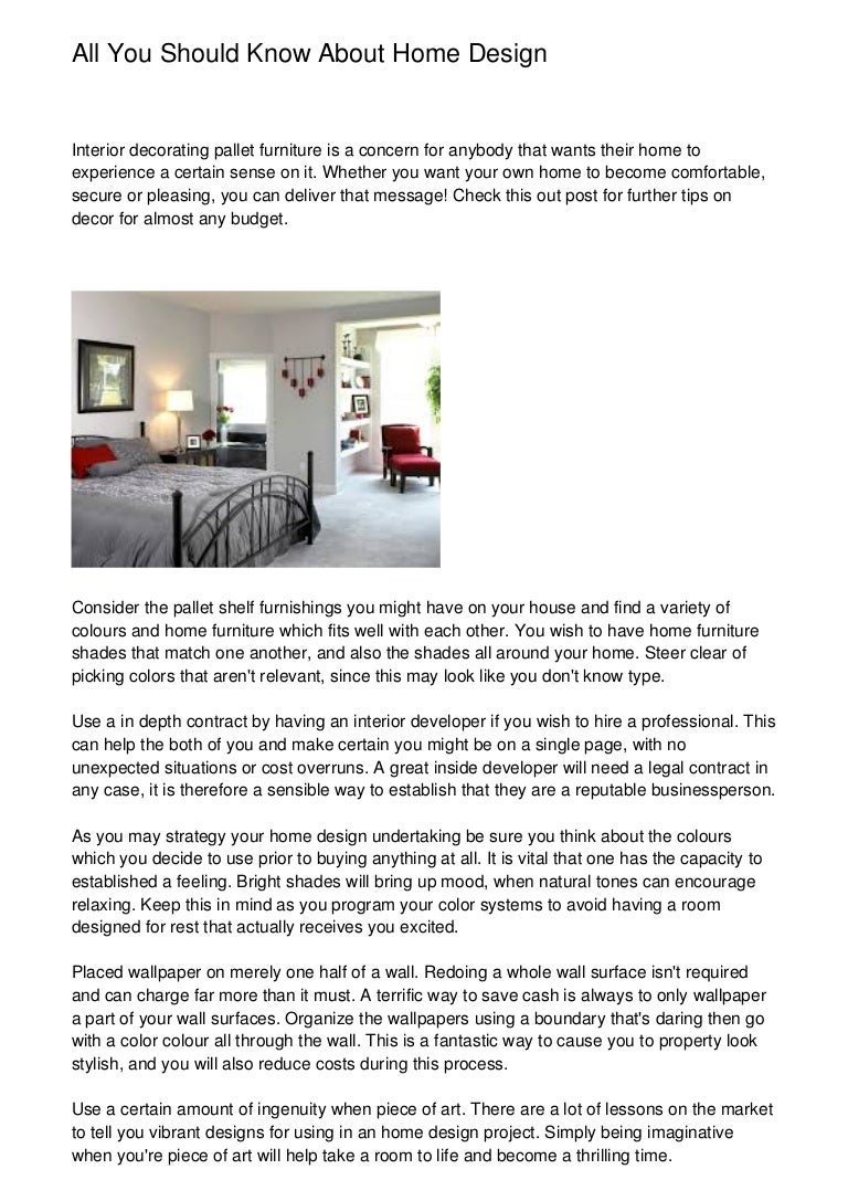 All You Should Know About Home Design