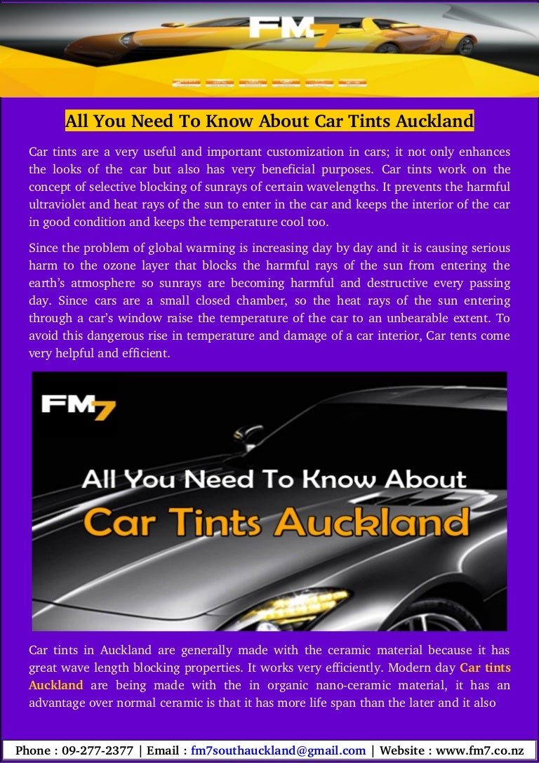 All You Need To Know About Car Tints Auckland - Cool cars auckland