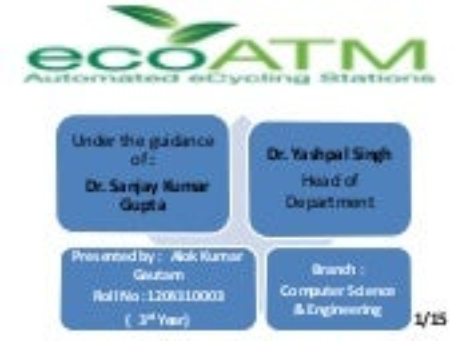 ecoATM The environmental Dedication