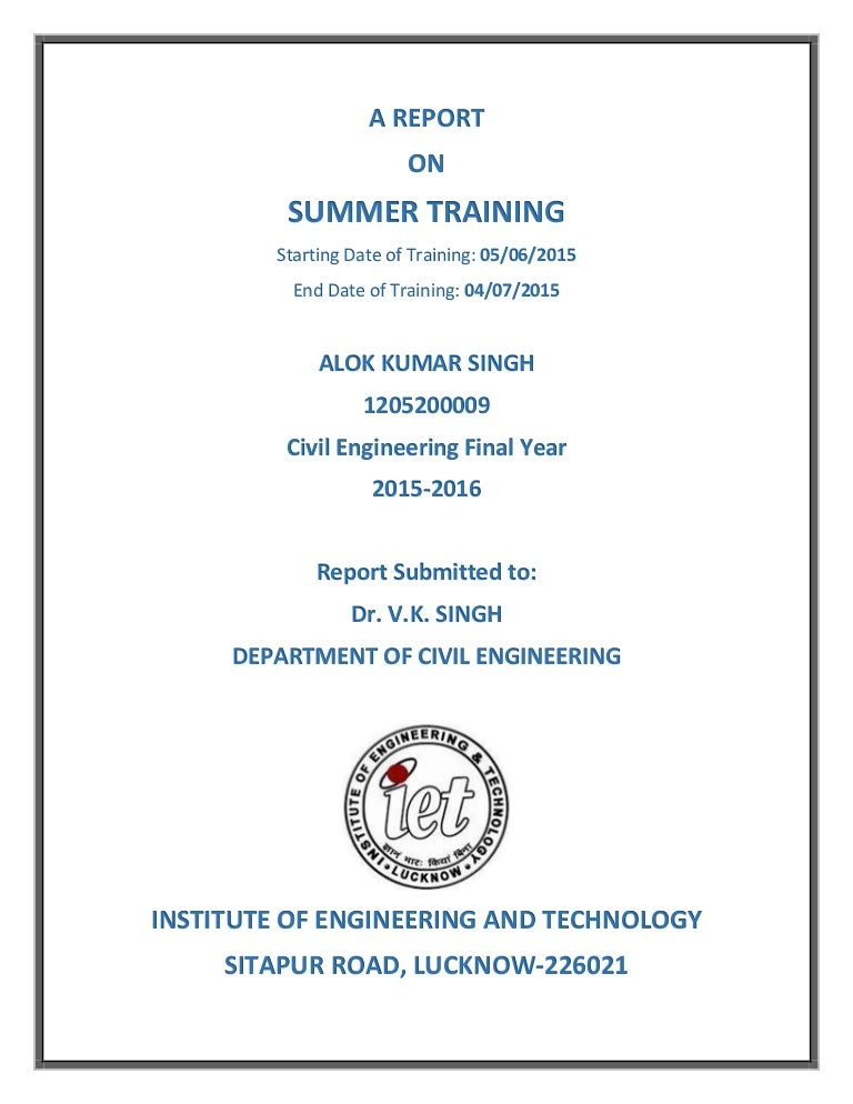 SIWES INDUSTRIAL TRAINING (IT) REPORT
