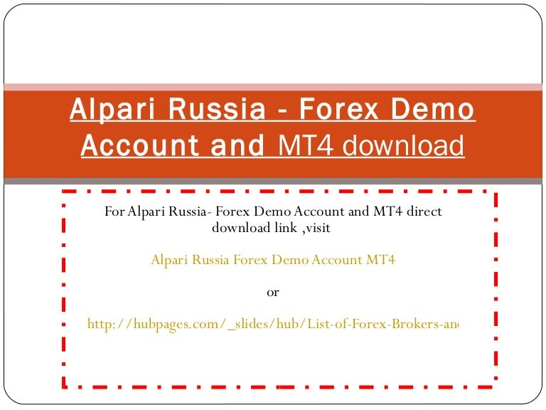 Alpari binary options demo account