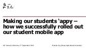 Making our students 'appy – how we successfully rolled out our student mobile app