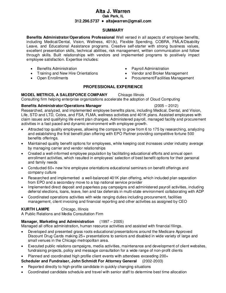 sample fundraiser resume