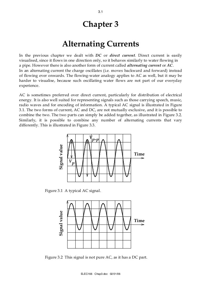 Alternating Current Tutorial Figure 3 Simple Lowpass Rc Circuit With Source Voltage