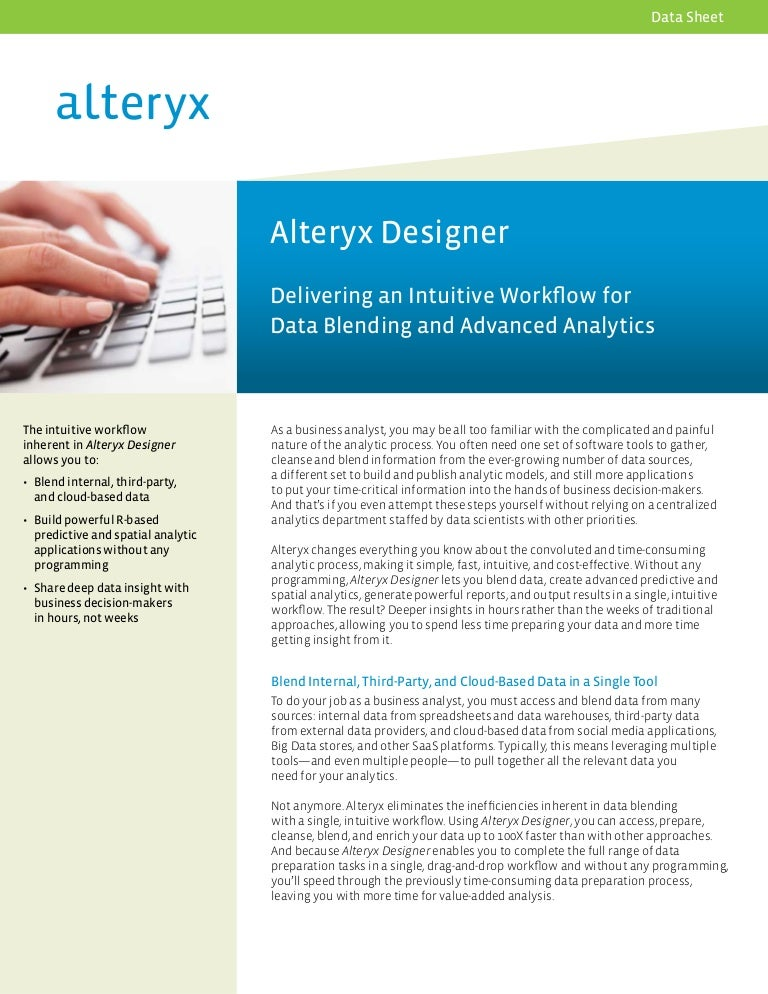 Alteryx Desktop Designer Overview