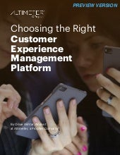 [REPORT PREVIEW] Choosing the Right Customer Experience Management Platform