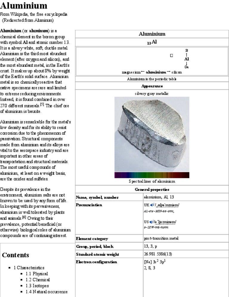 Aluminium wikipedia urtaz Gallery
