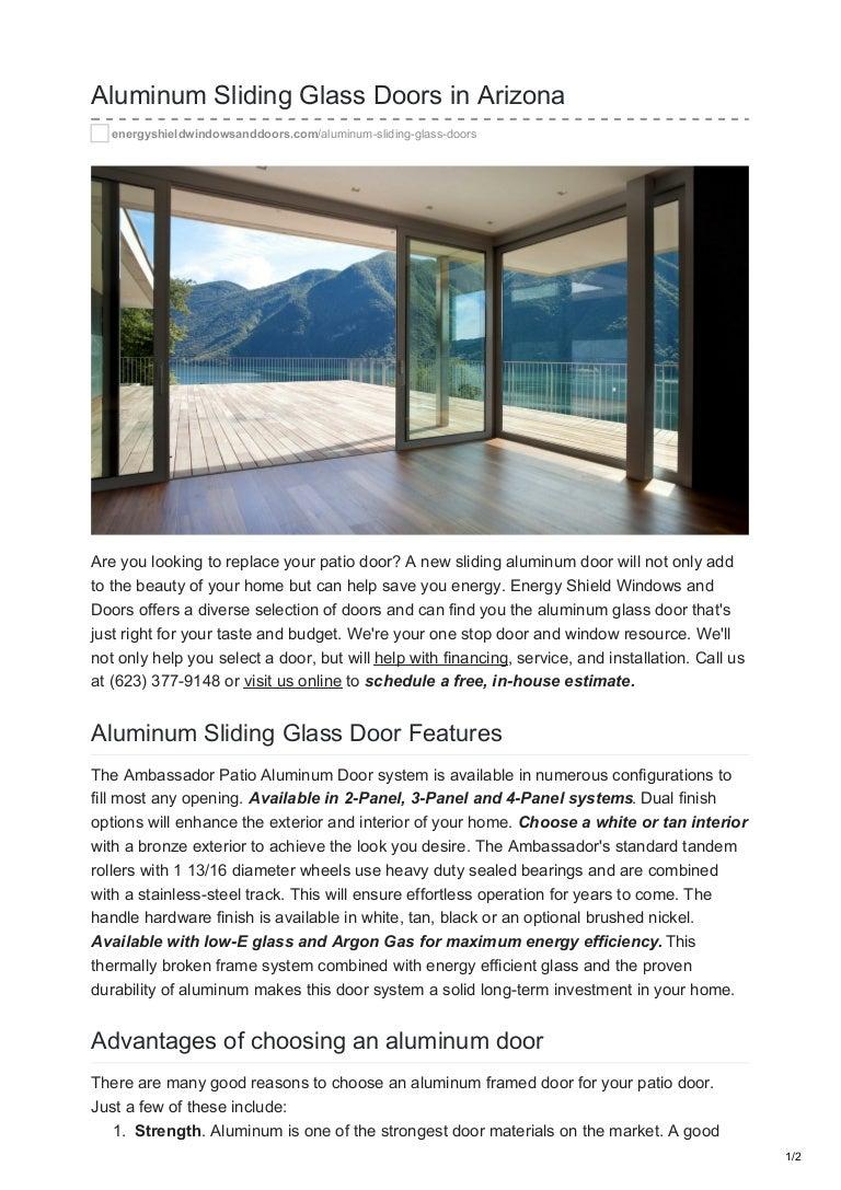 Aluminum Sliding Glass Doors In Arizona