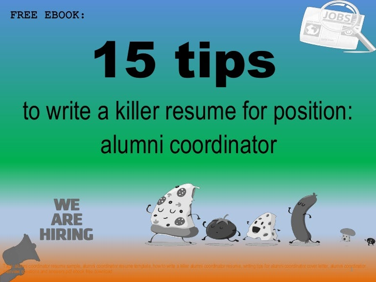 Alumni coordinator resume sample pdf ebook free download