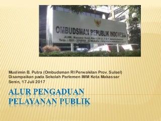 Alur pengaduan pelayanan publik