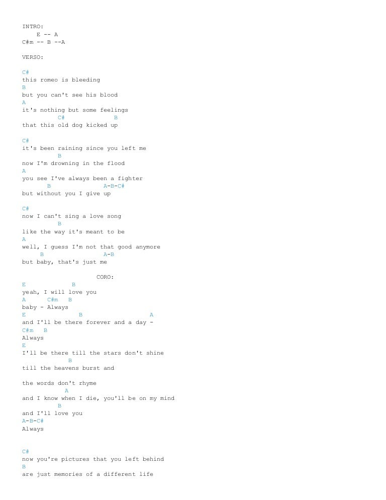 Always Chords By Bon Jovi Ultimate Guitar